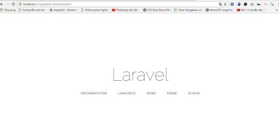 cat dat laravel tren windows