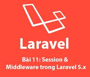 Bài 11: Session và Middleware trong laravel 5.x