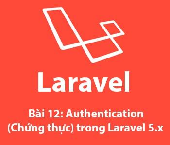 Bài 12: Authentication (chứng thực) trong laravel 5.x